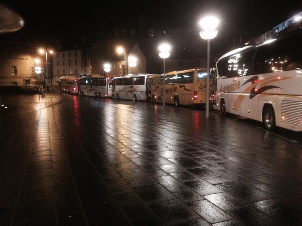 Fleet of Earnside Coaches at Perth Concert Hall