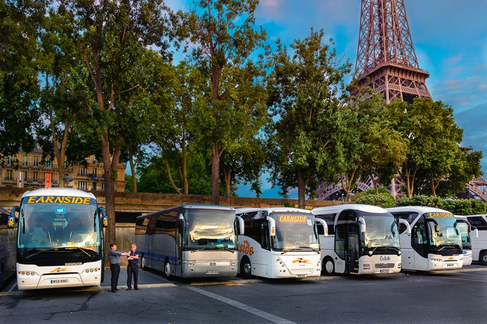 Earnside Coaches travel throughout the UK and Europe